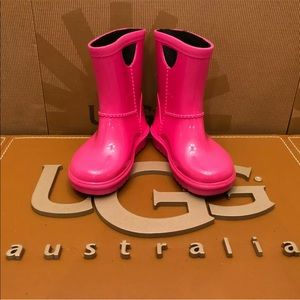 NEW TODDLER UGG RAHJEE DIVA PINK RAIN WATER BOOTS